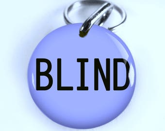 Blind Dog ID Tag Pet id tags Unique pet tags