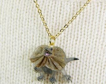 Unique frilled lizards Pendant & Necklace