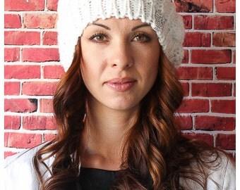 Women's Knitted Beret Beanie Hat Cap