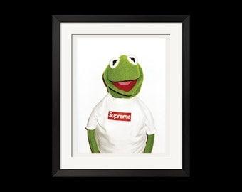 22x28 Print - Supreme x Kermit Photo By Terry Richardson Urban Street Poster
