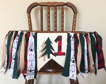 Camping- Lumberjack Highchair Banner