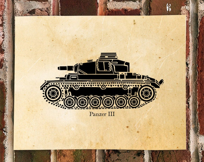 KillerBeeMoto: Limited Print of A German World War Two Panzer III Tank 1 of 100 Print
