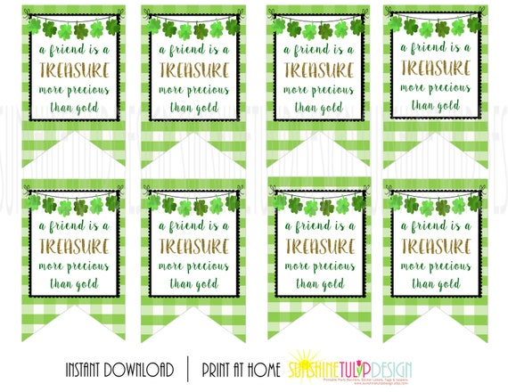 Printable St Patrick S Day Gift Tags A Friend Is A