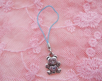 Sale on 1 unique teddy bear phone charm for someone special