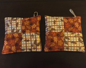 Autumn pot holders set of 2
