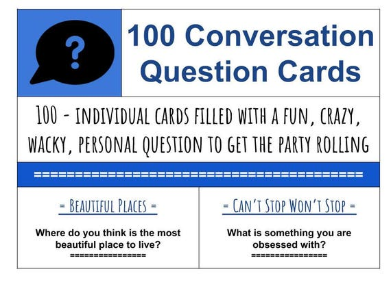Worksheet Get To Know You Printable 100 conversation starter questions printable cards fun family time getting to know you diy gift jar