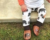 Geo Constellation Bear Woodland Baby Leggings