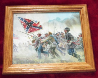 Civil War Painting. Mort Kunstler, WITH A REBEL YELL, 2nd Manassas, Bull Run