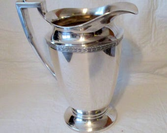 vintage silverplate pitcher by WM Mounts excellent condition hand polished