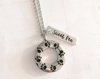 Pet loss - Hand stamped necklace - Pet memorial jewelry - dog or cat loss - Unique jewelry - Hand stamped necklace - Urn jewelry