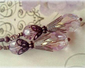 Swarovski Crystal Earrings,  Light Purple Earrings,  Lilac Crystal Earrings, Lilac Earrings, Lavender Earrings, Lavender Crystals, For Her