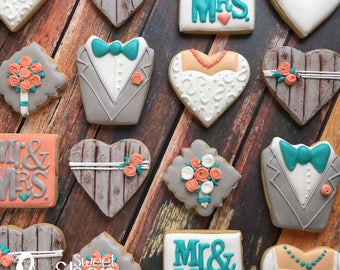 Shabby chic Wedding cookies