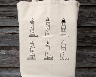 Beach Tote, Lighthouse Tote, Coloring Tote, Lighthouse, Lighthouse Beach Bag, Childs Coloring Tote, Beach Bag, Resort Tote, Childs Tote