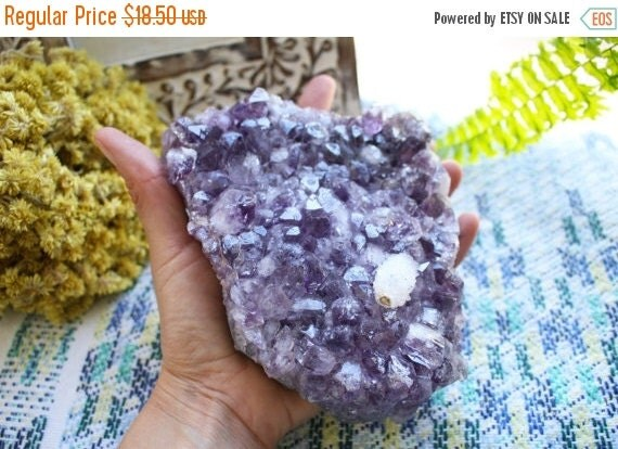 10% Sale Gemshow Special Amethyst Cluster - High Grade - Hippie Decor - Crystal Collection - Feng Shui  (RK128-13)