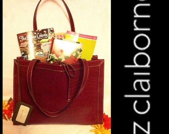 Vintage Liz Claiborne Extra Large Croc Tote Bag