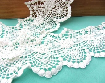 Cotton Lace Trim , Crochet Lace Trim, Antique Lace Trim, white Cotton Lace,white lace trim-12cm