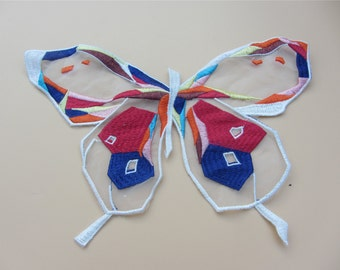 28cm*20cm butterfly applique,embroidery patch