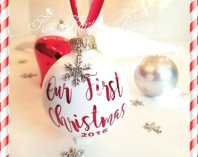 Our First Christmas Ornaments, Baby's First Christmas, Merry Christmas