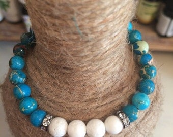 White Coral & Turquoise