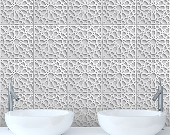 3D Effect Tile Stickers Transfers For Kitchen, Bathroom And Furniture DIY.  White, Neutral Part 42