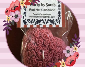 RED HOT CINNAMON heart candle