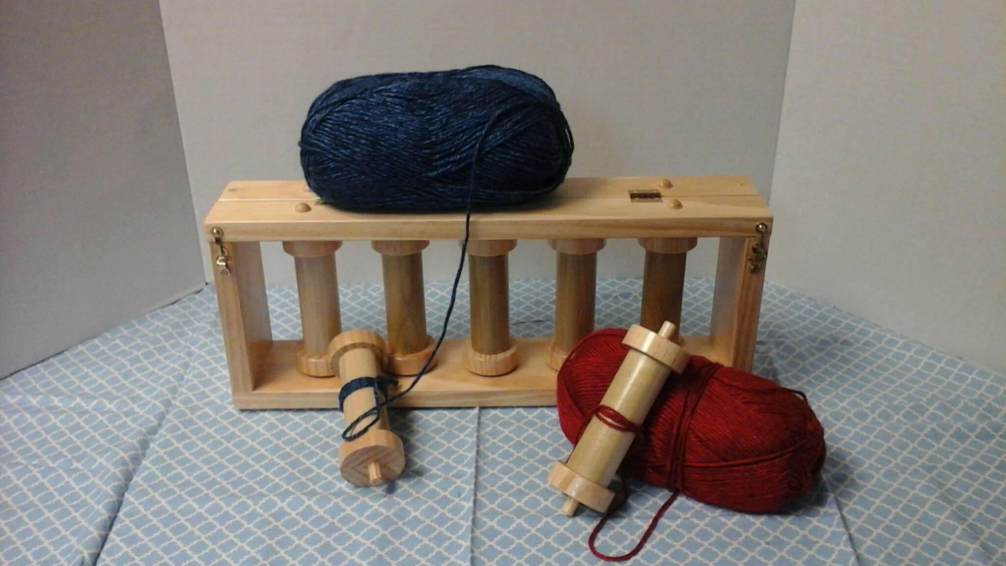 Wooden Knitting Wool Holder : Handmade wooden yarn bobbin holder for graphghan
