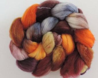 merino nylon,Moorrunner, superwash sock blend, top,handpainted fiber for spinning,Moorläuferin,3,5oz