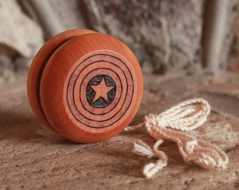 CUSTOM Pyrography Yo-Yos - Woodburned yoyo gift