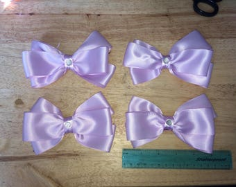 "4"" bow clips other lots of colours"