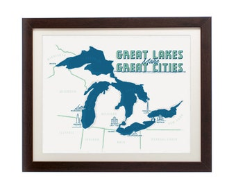 Great Lakes Cities Print