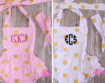 Baby girl Outfits, Baby Girl Clothes, Baby Girl Romper, baby romper, baby clothes, bubble romper, personalized, monogram, baby girl clothing