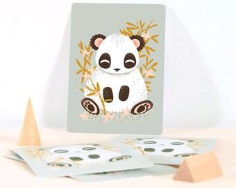 Card - Les Animignons :  the Panda