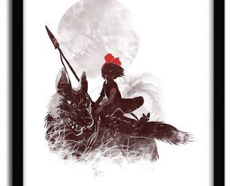 Affiche PRINCESS MONOKIKI BY Kharmazero