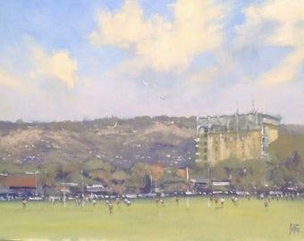 Mike Barr oil painting - plein air - Victoria Park Adelaide