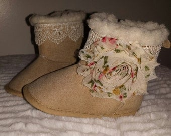 Baby booties,  baby boots, crib shoes