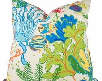 Sea Life Pillow Cover   Swavelle/Mill Creek Indoor/Outdoor Splish Splash  Atlantis