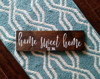 Home Sweet Home Wood Sign | Home Wood Sign | Established Wood Sign | Wood Sign | Established | New Home