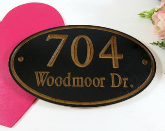 Personalized Address - Carved Address Sign - Location Sign - Hanging Address - Street Signs - New Homeowners Gift - Custom Outdoor Sign