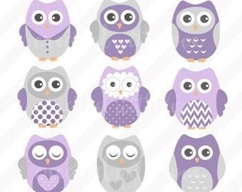 Purple owl nursery | Etsy