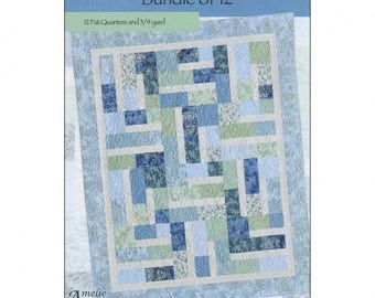 Amelie Scott Designs Bundle of 12 Fat Quarters Quilt Pattern