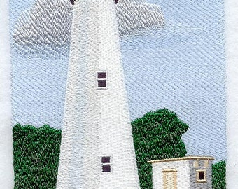 OCRACOKE LIGHTHOUSE  Men's Tee Shirt or Sweatshirt from Topstitch Designs by LR