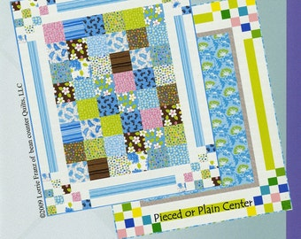 Bouncing Borders Quilt Pattern from Bean Counter Quilts