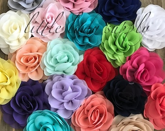 WHOLESALE Grab Bag 10 Rose Blossom Chiffon Flowers headband flowers diy flowers bulk fabric flowers bulk wholesale flowers