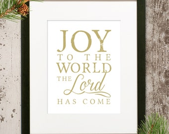 Joy to the World 11x14 Print