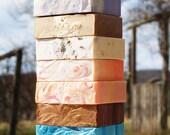 Homemade Farm Fresh Goat Milk Soap - You Choose Five Bars - Homemade Soap Sampler