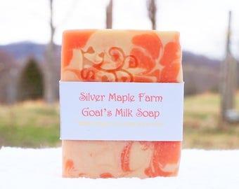 Energy Citrus Goat Milk Soap - Citrus Soap - Coral Soap - Handmade Soap - Fresh Goat Milk Soap - Grapefruit Soap - Gift For Her