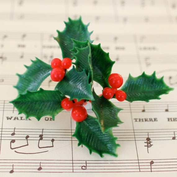 Cake Decorating Mini Holly Leaves : 12 Holly Leaf Cupcake Cake Toppers Plastic Decorations