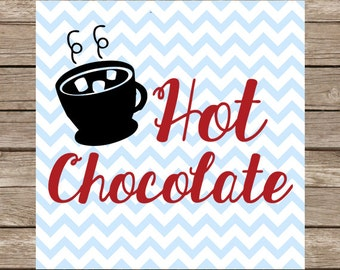 Hot Chocolate SVG Hot Chocolate Digital Download PNG DXFCut File for Cricut SVG Silhouette