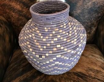 Coiled basket, handmade appearance