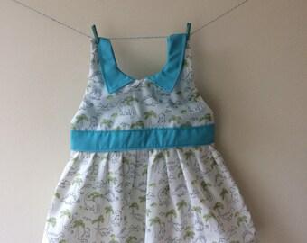 Dinosaur dress, girls dinosaur dress, baby dress, toddler dress, dinosaur print, dinosaur gift, dinosaurs for girls, party dress